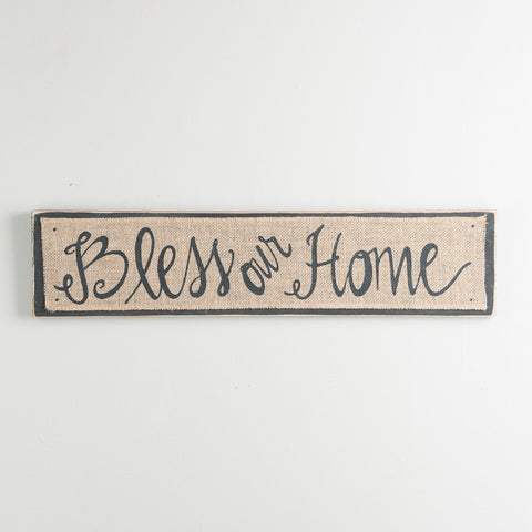Bless Home Burlap Board