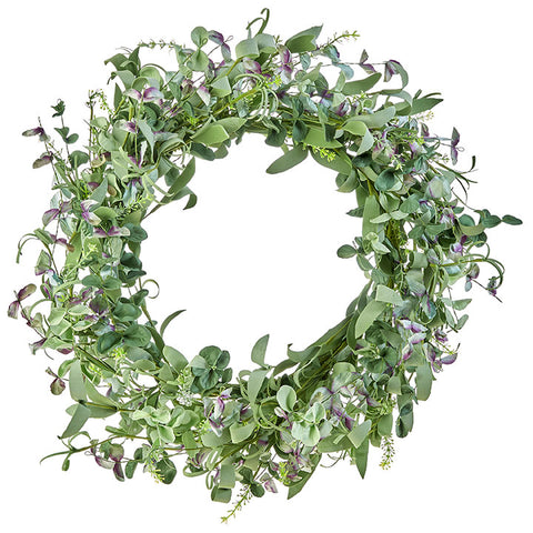 Mixed Greenery & Lavender Wreath