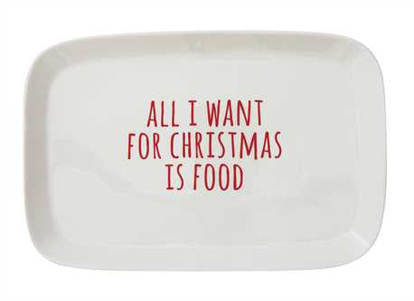 "Stoneware ""All I Want..."" Platter"