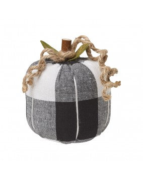 Black Checked Pumpkin
