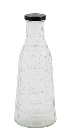 Glass Bottle w/Cap 10""