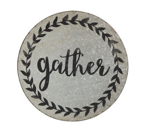 "Tin Wall Decor, ""Gather"""