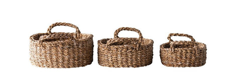 Oval Natural Seagrass Basket