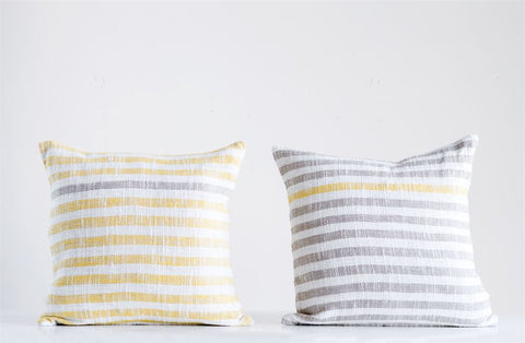 Cotton Woven Striped Pillow