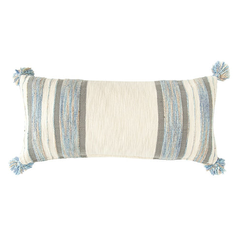 Striped Lumber Pillow w/Tassels