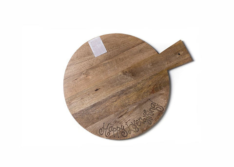 Big Wood Serving Board Happy Everything