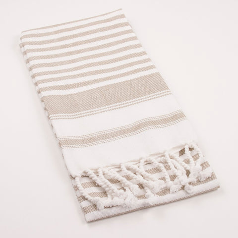 Taupe Towel with Fringe