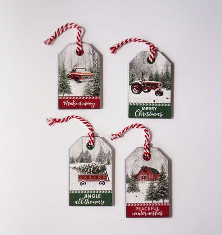 Country Christmas Tag Ornament