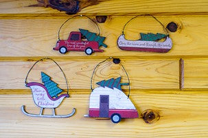 Christmas Camping Ornament