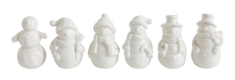 Ceramic Snowmen, Boxed Set