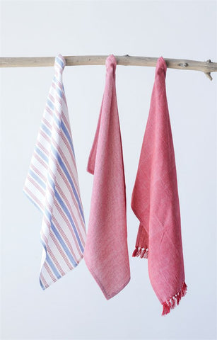 Cotton Tea Towels-Red