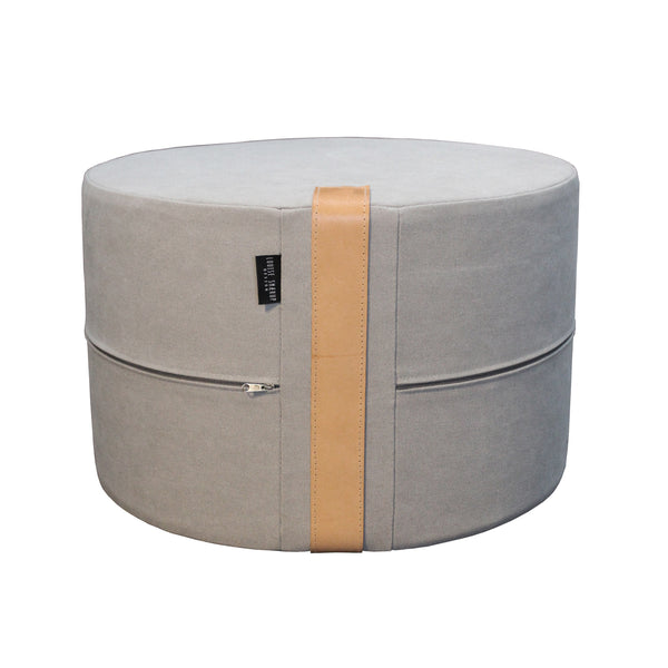 Design Poufs Canvas, Grey