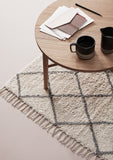 Rug, cotton, white/grey