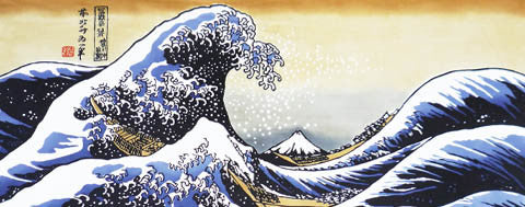 Tenugui- Fugaku Sanjyu-Rokkei: the Great Wave off Kanagawa