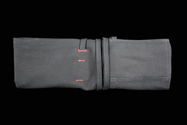 My Knife Bag Black/Black with Red Stitch