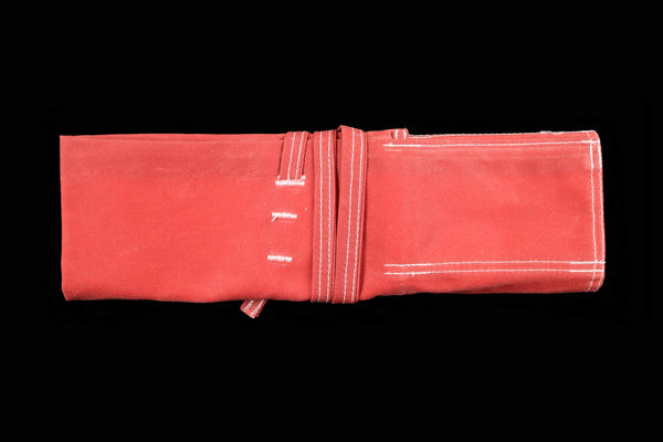 My Knife Bag Red/Ivory (Waxed)