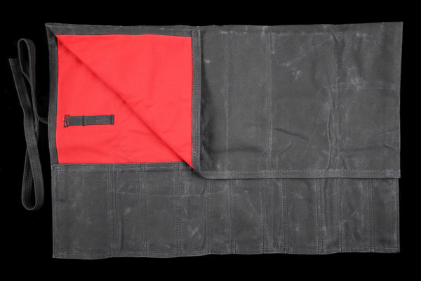 My Knife Bag Black Wax/Red