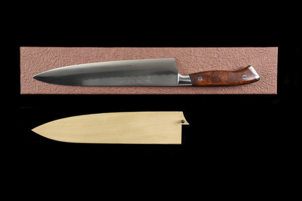 Gesshin Ittetsu 240mm White #2 Honyaki Gyuto with Desert Ironwood Handle