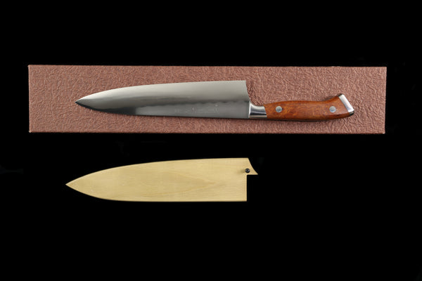 Gesshin Ittetsu 210mm White #2 Honyaki Gyuto with Desert Ironwood Handle