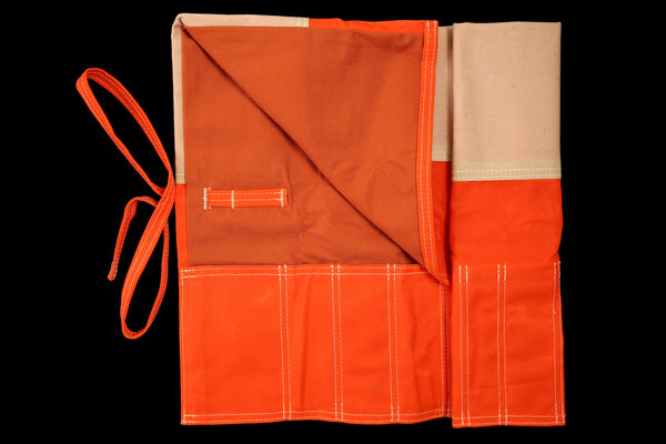 My Knife Bag Orange Wax/Red