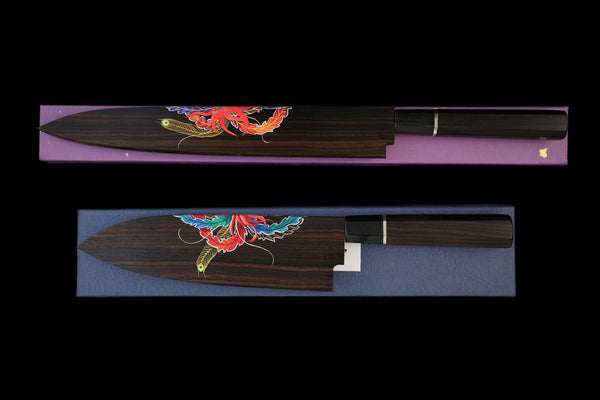 Gesshin Hide Blue #1 Phoenix 300mm Yanagiba and 210mm Deba Set