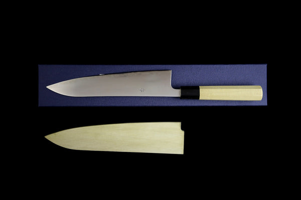 Ikazuchi 210mm Stainless Clad Blue Super Wa-Gyuto