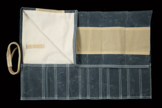 My Knife Bag Steel Blue & Beige/Ivory (Waxed)