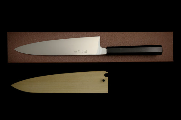 Gesshin Ittetsu 240mm Powdered Steel Wa-Gyuto with Ebony Handle
