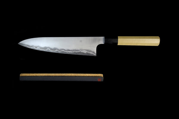 Ginrei 210mm 52100 Stainless Clad Carbon Wa-Gyuto