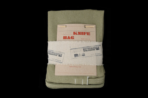 My Knife Bag Olive Green/Ivory