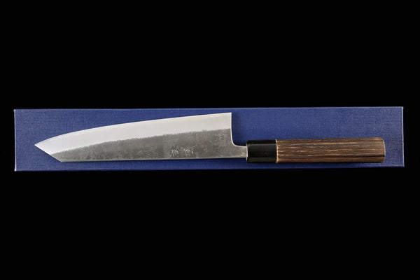 Kochi 210mm Kurouchi Stainless Clad Carbon Kiritsuke-Shaped Wa-Gyuto
