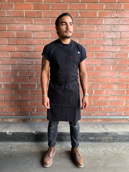 White Bark Workwear Full Cross-Back Apron - Black