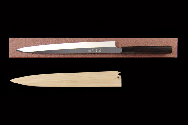 Gesshin Ittetsu 300mm Fushuko Honyaki Yanagiba with Ebony Handle
