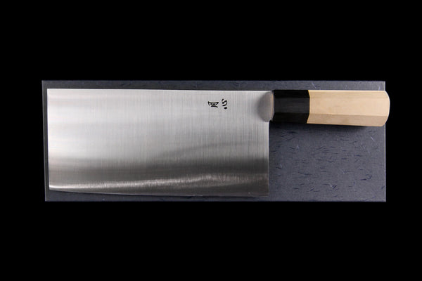 Gesshin Ginga #6 White #2 Chinese Cleaver (Wa-Handle)
