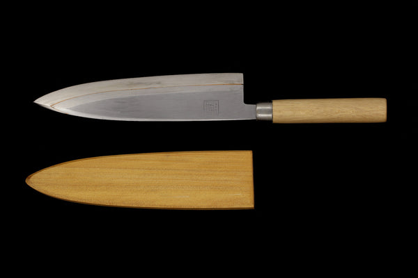 Jin 240mm High Speed Steel Mioroshi Deba with Saya D-07