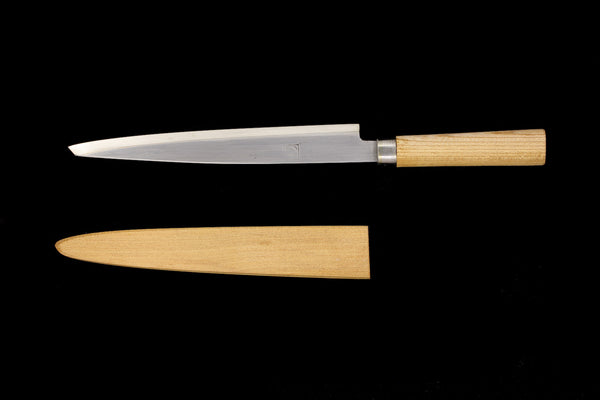 Jin 220mm High Speed Steel Ko-Yanagiba with Saya P-17