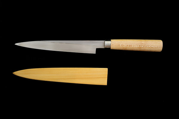 Jin 210mm High Speed Steel Ko-Yanagiba with Saya P-61