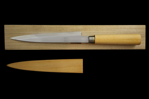 Jin 210mm High Speed Steel Ko-Yanagiba with Saya P-64
