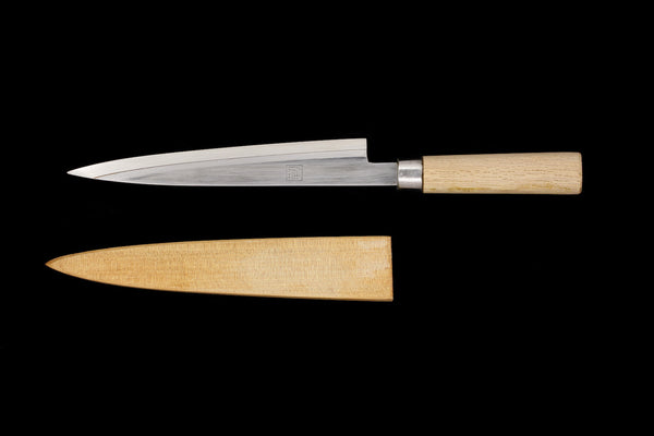 Jin 210mm High Speed Steel Ko-Yanagiba with Saya P-08