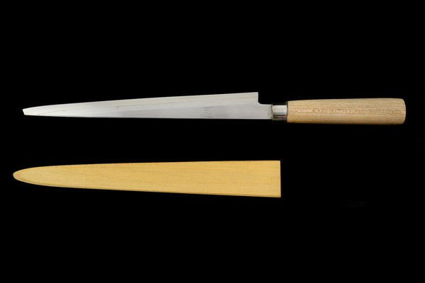 Jin 270mm High Speed Steel Sakimaru Yanagiba with Saya Y-01