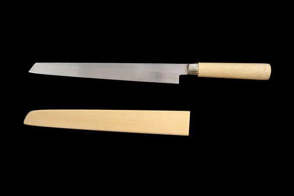 Jin 270mm High Speed Steel Kensaki Yanagiba with Saya Y-17