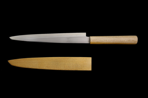 Jin 275mm High Speed Steel Yanagiba with Saya Y-28