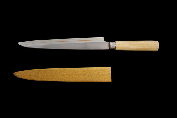 Jin 260mm High Speed Steel Yanagiba with Saya Y-31