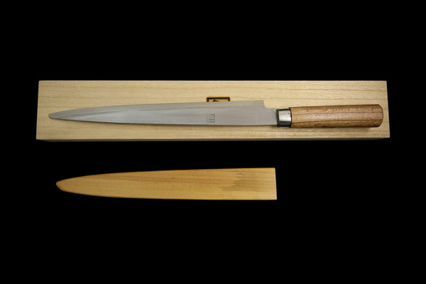 Jin 295mm High Speed Steel Yanagiba with Saya Y-47