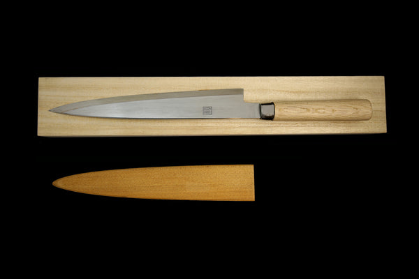 Jin 270mm High Speed Steel Yanagiba with Saya Y-50