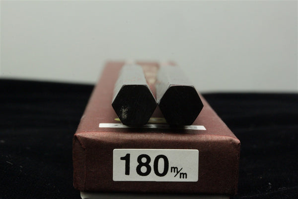 Titanium Moribashi- 180mm 6-sided Black Pakkawood