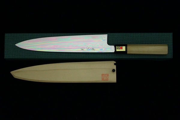 Gesshin Hide 270mm Blue #1 Honyaki Wa-Gyuto (Special Project)