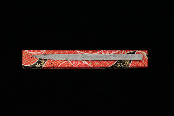 Damascus and Lacquer Paper Knife- Purple and Red