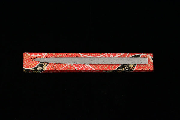 Damascus and Lacquer Paper Knife- Red and Green