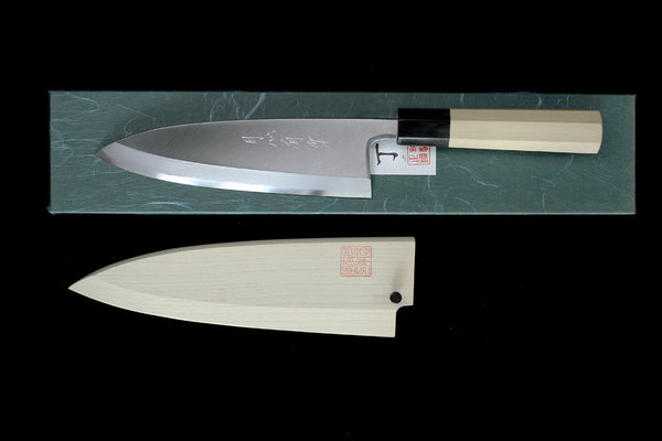 Gesshin Uraku 180mm White #2 Deba- Left Handed
